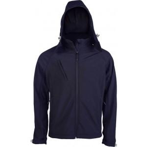 Kariban Férfi kapucnis softshell dzseki, Navy